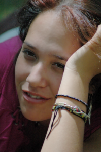 teen with bracelet