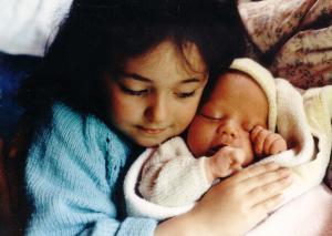 sister & newborn