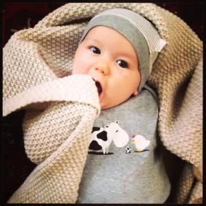 baby sucking blanket