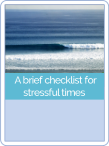 button hct 5brief checklist for stressful times