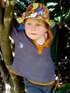 Boy Three half in tree
