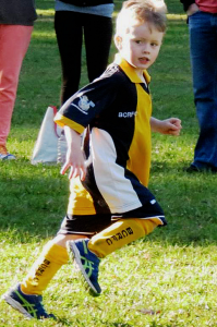 boy playing sport