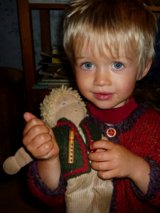 Boy with doll
